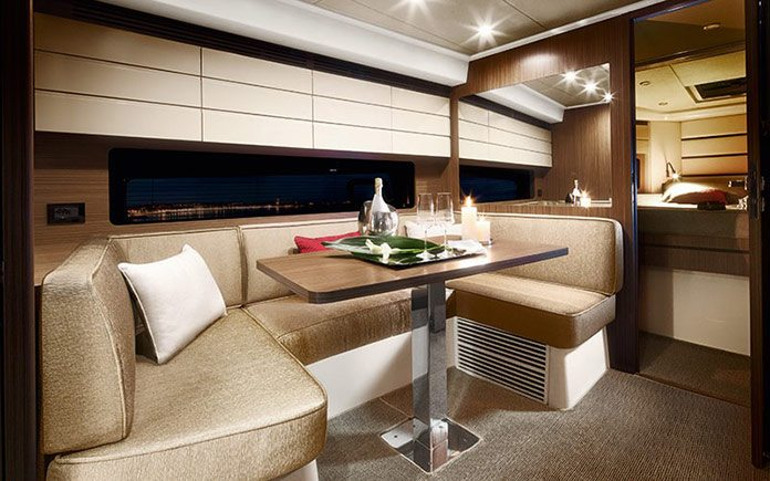 yacht-azimut-atlantis-43-dinette-with-special-decor-alta-moda-italiana