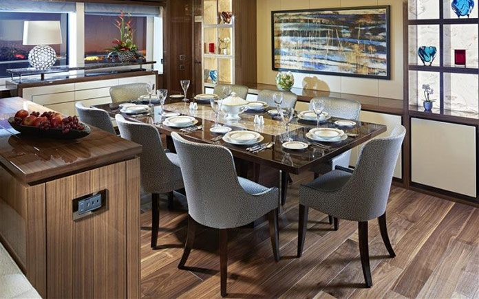 yacht-sunseeker-131-dining