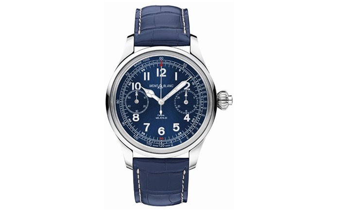 Montblanc 1858 Chronograph Tachymeter Blue Limited Edition 100 1