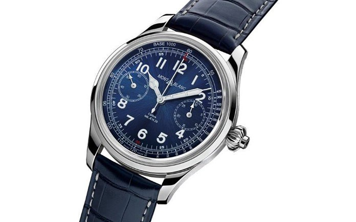Montblanc 1858 Chronograph Tachymeter Blue Limited Edition 100 2